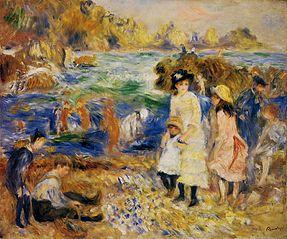 Children on the Seashore, Guernsey (Enfants au bord de la mer à Guernesey)