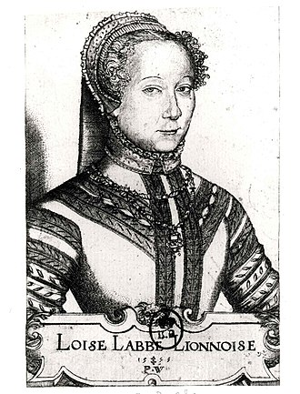 Pierre Woeiriot - Louise Labé from Lyon (1555)