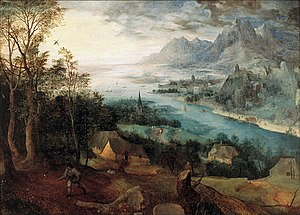 Parable of the Sower - Pieter Bruegel the Elder, Landscape with the Parable of the Sower, 1557.