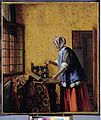 Pieter de Hooch - Die Goldwägerin - 001.jpg