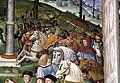 Pinturicchio, liberia piccolomini, 1502-07 circa, Enea Silvio, vescovo di Siena, presenta Eleonora di Portogallo all'imperatore Federico III 05.JPG