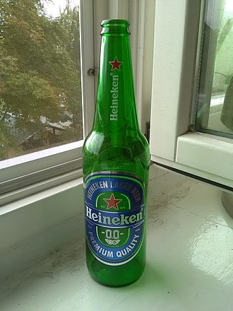 Low-alcohol beer - Example of Heineken 0.0%.