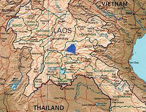 Campaign 139 - The Plain of Jars, scene of Campaign 139, is marked by the blue shading.