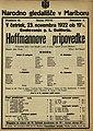 Plakat za predstavo Hoffmannove pripovedke v Narodnem gledališču v Mariboru 23. novembra 1922.jpg