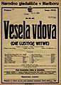 Plakat za predstavo Vesela vdova v Narodnem gledališču v Mariboru 6. januarja 1926.jpg