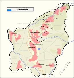 Plano de la República de San Marino