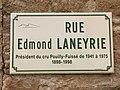 Plaque Rue Edmond Laneyrie - Solutré-Pouilly (FR71) - 2021-03-02 - 1.jpg