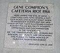 Plaque commemorating Compton's Cafeteria riot.jpg