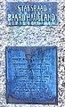 Plaque on Baard Haugland memorial from 1919 in Leirvik, Stord, Norway. Photo 2018-03-10.jpg