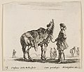 Plate 15- a Polish nobleman, facing away, holding his horse covered in leopard skin, four men and a horse in background, from 'Diversi capricci' MET DP817416.jpg
