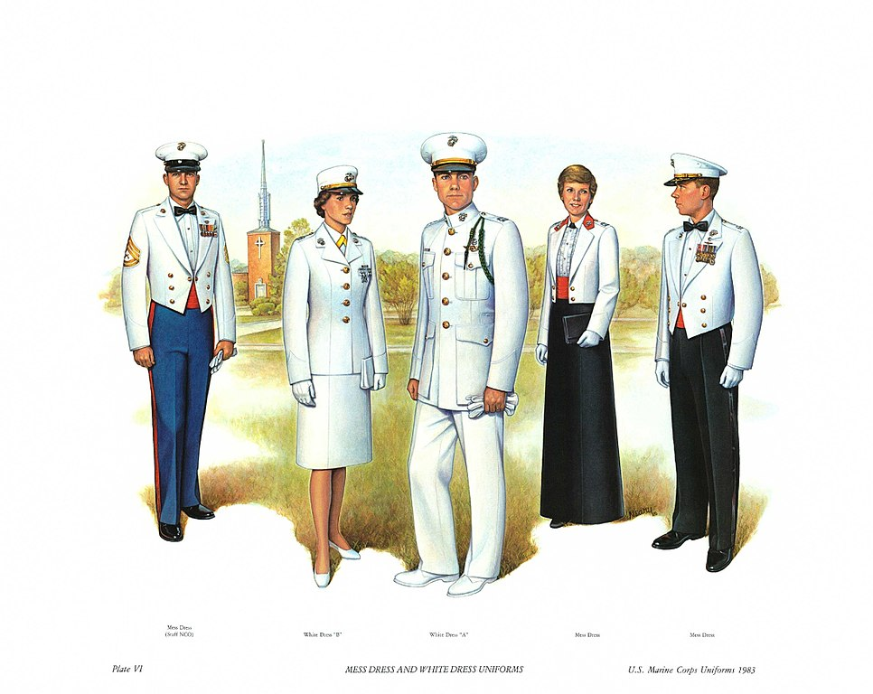 Fileplate Vi Mess Dress And White Dress Uniforms Us Marine