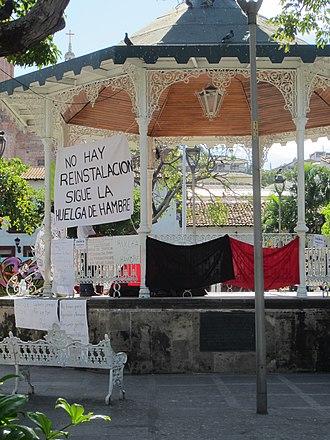 Plaza de Armas (Puerto Vallarta) - The plaza's bandstand in 2014