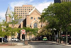 Plymouth Congregational Church (Syracuse, New York) - Image: Plymouth Congregational Church Syracuse
