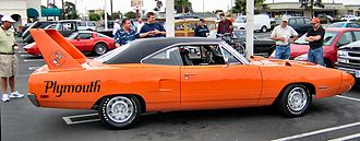 Spoiler (car) - The Plymouth Superbird is famous for its high factory rear wing