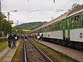 Pochod Praha-Prčice, výstup z vlaku.jpg