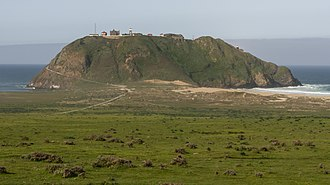 Point Sur Lighthouse - Point Sur, as seen from Highway 1