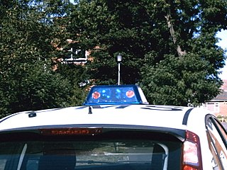 police car, police light bar