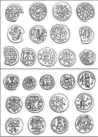 History of the Jews in Poland - Early medieval Polish coins with Hebrew inscriptions