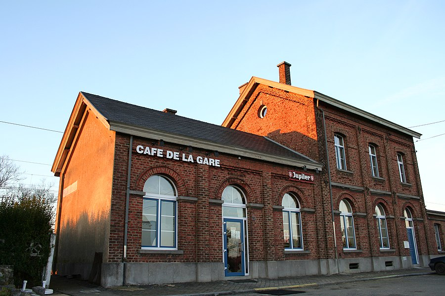 Pondrôme (Belgium), the previous train station.