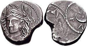 Menrva - Menrva on a Roman As from Etruria