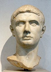 Ancient marble bust of Marcus Brutus