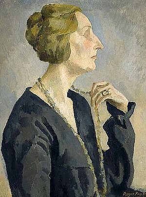 Edith Sitwell - Portrait of Edith Sitwell, by Roger Fry, 1918