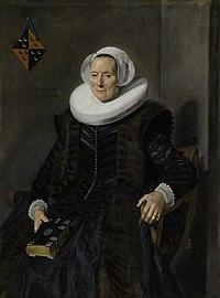 Portrait of Maritge Claesdr. Voogt (1577-1644) by Frans Hals 027.jpg