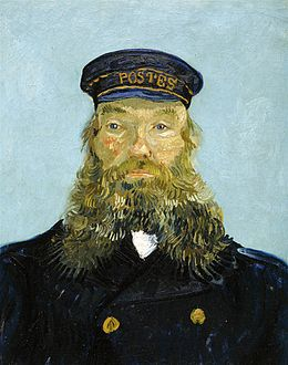 Portrait of the Postman Joseph Roulin (1888) van Gogh DIA.jpg