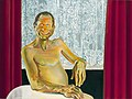 Portret van man bij het raam met vitrage, schilderij van Cornelia Vrolijk.jpg