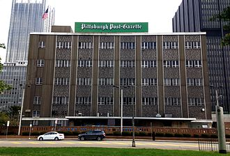 Pittsburgh Post-Gazette - The Post-Gazette building in October 2015.
