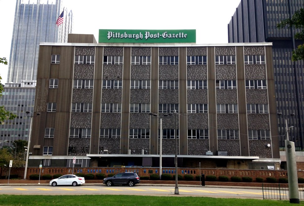 Post Gazette building, October 2015