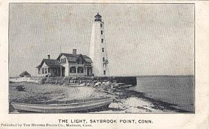 Lynde Point Light - The lighthouse as it appeared about 1905