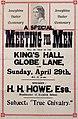 Poster - Josephine Butler Centenary. A special meeting for men, 1928. (22528018839).jpg