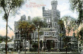 Palmer Mansion - Image: Potter Palmer Mansion old