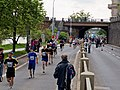 Pražský maraton, Nábřežní a Hořejší nábřeží.jpg