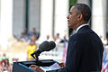 President Barack Obama delivers remarks during a Memorial Day ceremony May 27, 2013, at Arlington National Cemetery in Virginia 130527-A-VS818-361.jpg
