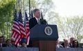 President Bill Clinton speaks at the 1997 dedication of the Franklin Delano Roosevelt Memorial in Washington, D.C LCCN2011634163.tif
