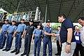 President Rodrigo Duterte congratulates the operatives behind the raid of the shabu laboratory in Arayat, Pampanga on September 27.jpg