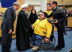Siamand Rahman - Rahman with Iranian President Hassan Rouhani