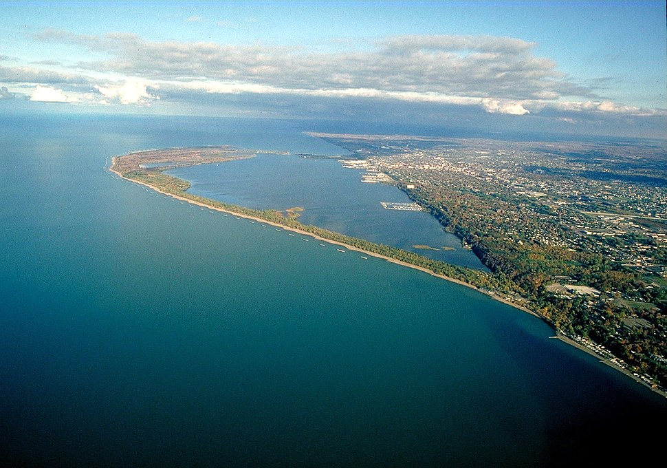 Presque Isle Pennsylvania aerial view