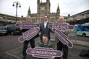 MetroWest (Bristol) - Local politicians at the launch of the Metro campaign.