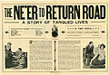 Press sheet for THE NE'ER TO RETURN ROAD, 1913 (Page 1).jpg