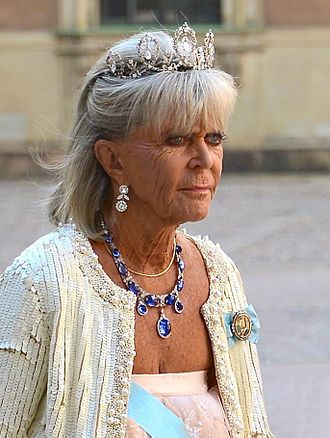 Princess Birgitta of Sweden - Princess Birgitta at the wedding of her niece Madeleine on 8 June 2013