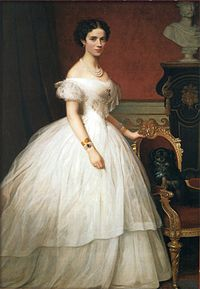 43c9d3baa28 Princess Dagmar of Denmark wearing a crinoline in the 1860s