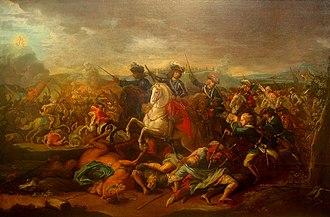 Siege of Belgrade (1717) - Eugene of Savoy at the Battle of Belgrade by Johann Gottfried Auerbach.