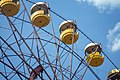 Pripyat Amusement park top of ferriswheel viewed from below 2018.jpg