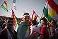 Pro-Kurdistan referendum and pro-Kurdistan independence rally at Franso Hariri Stadiu, Erbil, Kurdistan Region of Iraq 17.jpg