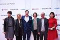 "Produktion ""Kunst & Verbrechen"", v. l. n. r. Sylvie Kürsten, Ilka Franzmann, Andreas Gräfenstein, unbekannt, Thomas Janssen, Andreea Varga.jpg"