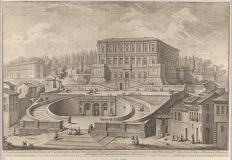 Villa Farnese - Prospetto principale di Palazzo di Caprarola by Giuseppe Vasi, c.1746-1748.