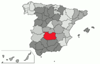 Location in Spain, in the province of Ciudad Real
